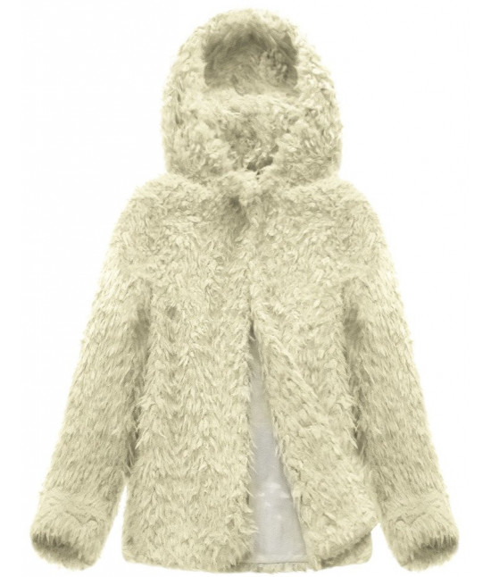 Dámsky kabát MODA154 ecru