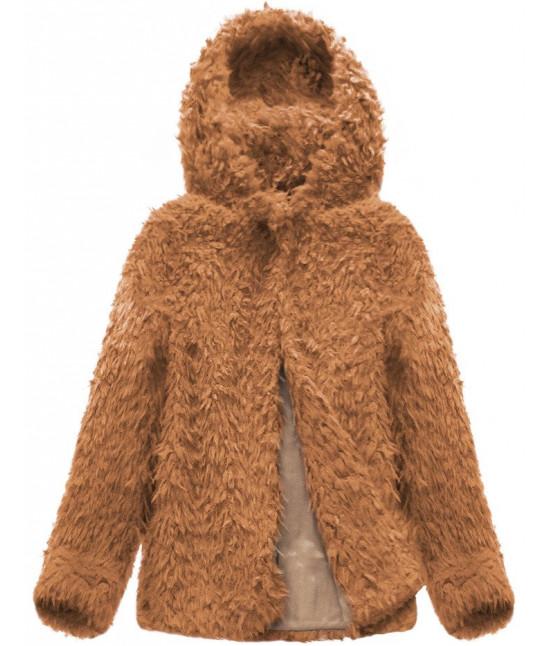 Dámsky kabát MODA154 hnedá