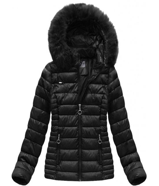 Dámska prešívaná zimná bunda MODA033 čierna