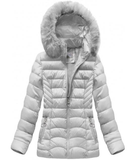 Dámska prešívaná zimná bunda MODA036 šedá