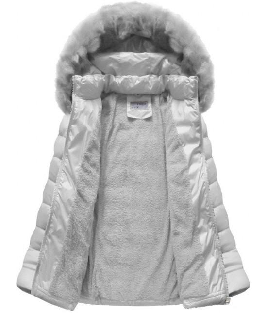 Dámska prešívaná zimná bunda MODA036 šedá - Dámske oblečenie ... 5419ade5838