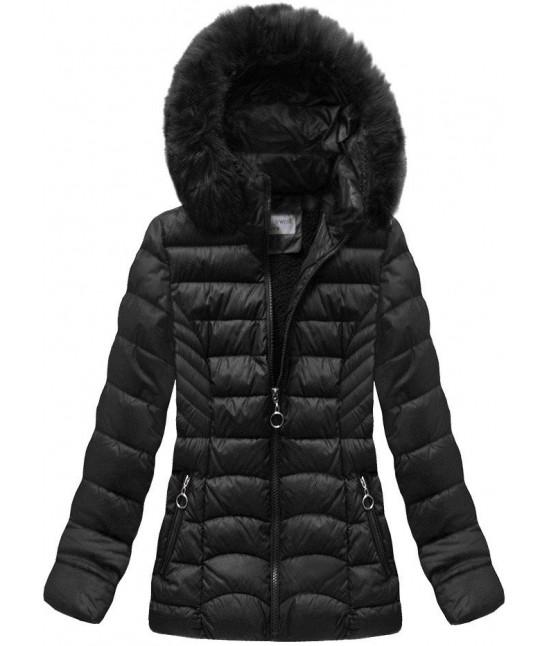 Dámska prešívaná zimná bunda MODA036 čierna