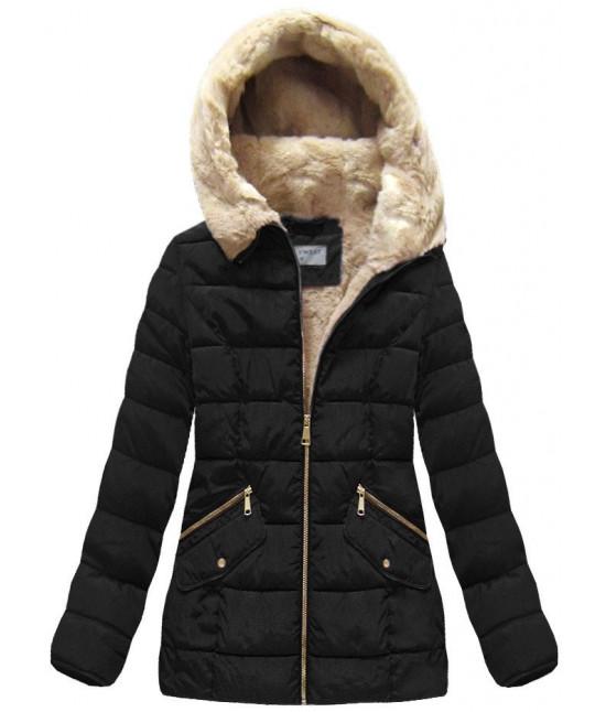 Dámska prešívaná zimná bunda MODA051 čierna c9bac7d0c61