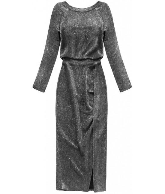 b573d2e0c112 Dámske dlhé elegantné šaty MODA166 strieborné - Dámske oblečenie ...