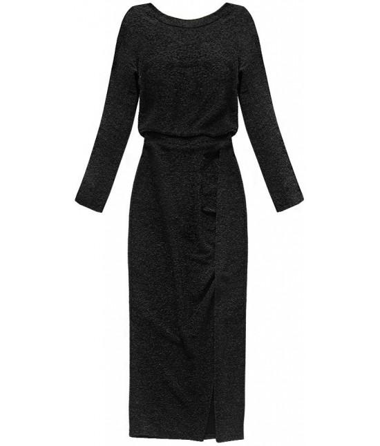 2bda64ba61b8 Dámske dlhé elegantné šaty MODA166 čierne - Dámske oblečenie ...