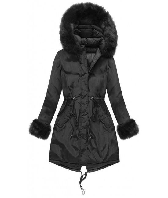 Dámska obojstranná zimná bunda MODA210 čierna