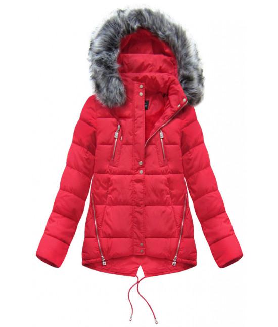 Dámska zimná bunda moda917 červená