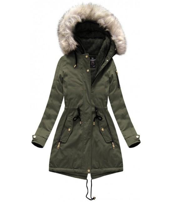 Dámska zimná bunda parka MODA630 khaki veľkosť XXL - Dámske ... d750b82a6dd