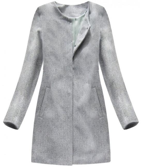 Dámsky kabát MODA172 svetlošedý