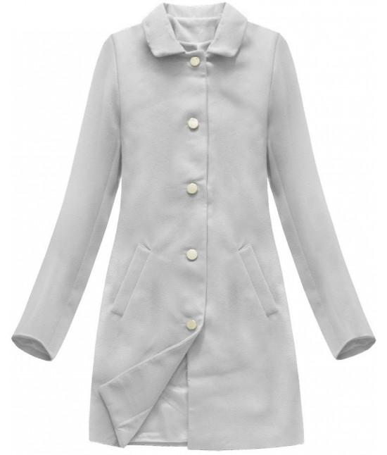 Dámsky prechodný kabát MODA241 svetlošedivý