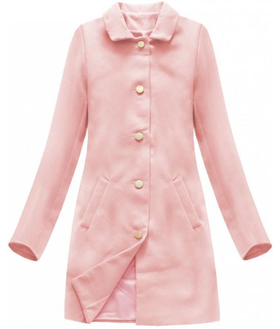Dámsky prechodný kabát MODA241 ružový