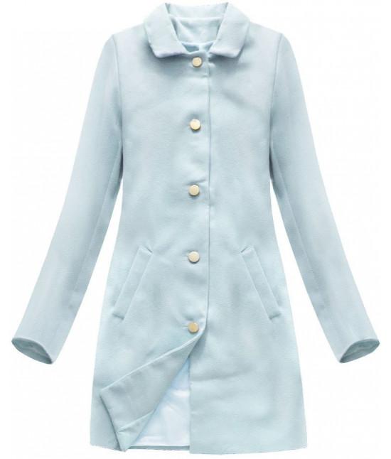 Dámsky prechodný kabát MODA241 svetlomodrý