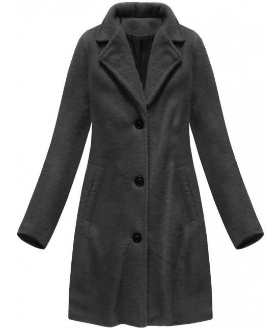 Klasický dámsky kabát MODA086 tmavošedý