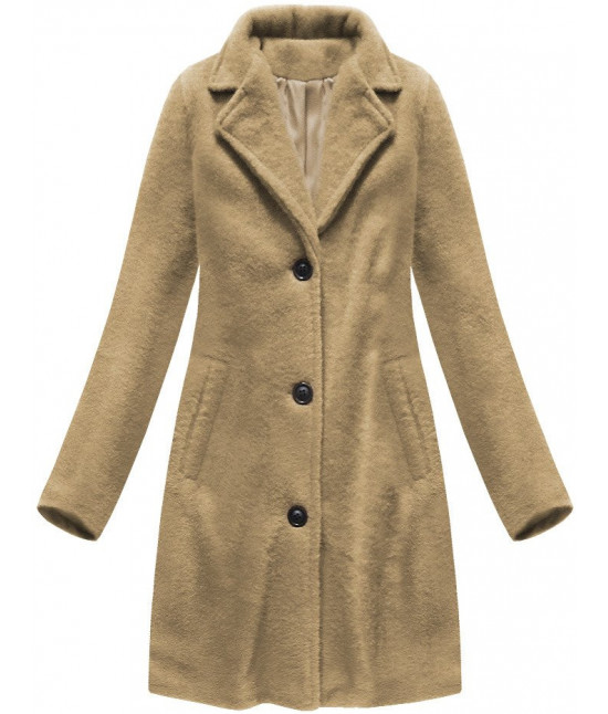 Klasický dámsky kabát MODA086 béžový