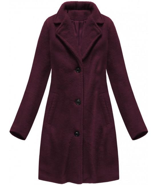 Klasický dámsky kabát MODA086 bordový