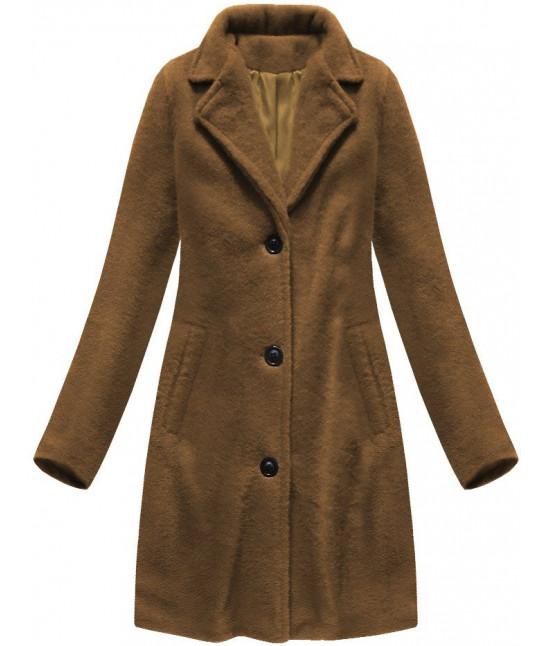Klasický dámsky kabát MODA086 hnedý