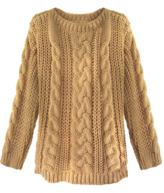 Dámsky sveter MODA189 karamelový