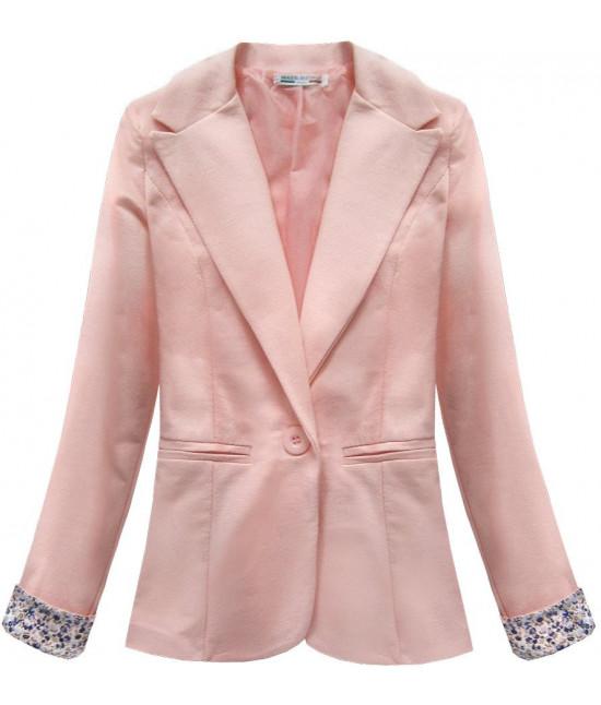 Bavlnené dámske sako MODA097 ružové