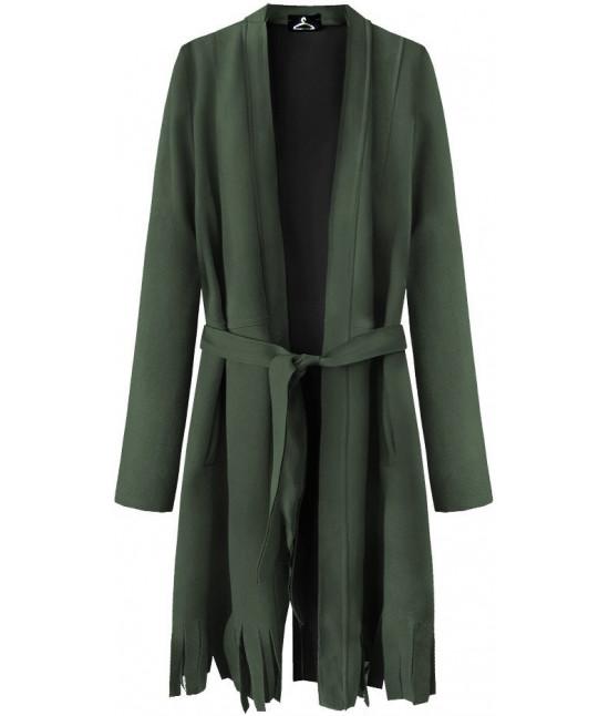 bbde727aff Dámsky zamatový plášť MODA809 khaki - Dámske oblečenie