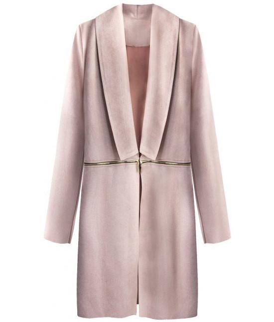Dámsky zamatový jarný plášť MODA800 staroružový - Dámske oblečenie ... b6e0bd515f1