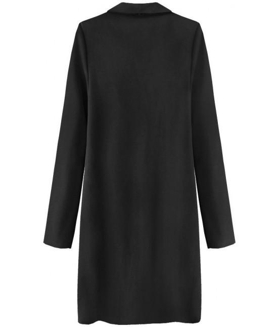 Dámsky zamatový jarný plášť MODA800 čierny - Dámske oblečenie ... a5f89a62544
