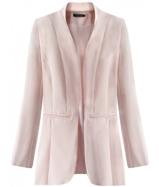 6cf7df4d222b Dámske elegantné sako MODA471 ružové - Dámske oblečenie