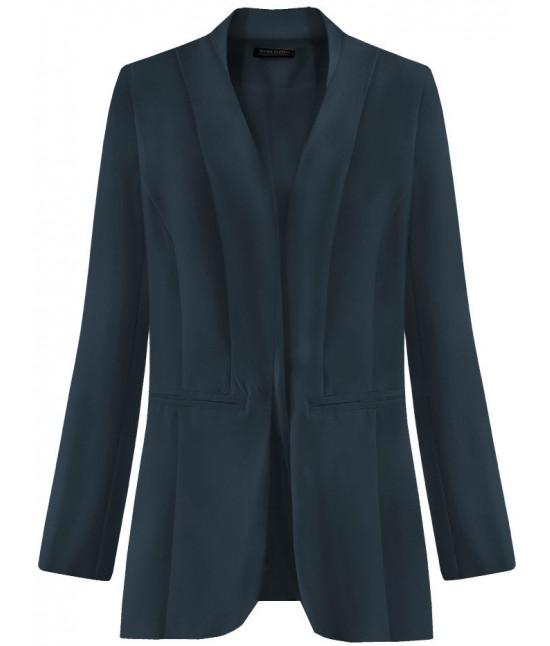 Dámske elegantné sako MODA471 tmavomodré