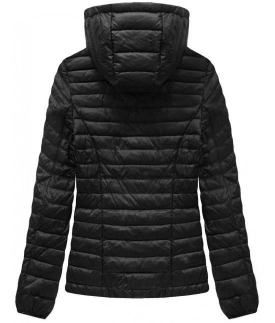 Dámska krátka prechodná bunda MODA076 čierna - Dámske oblečenie ... 24061892b0f