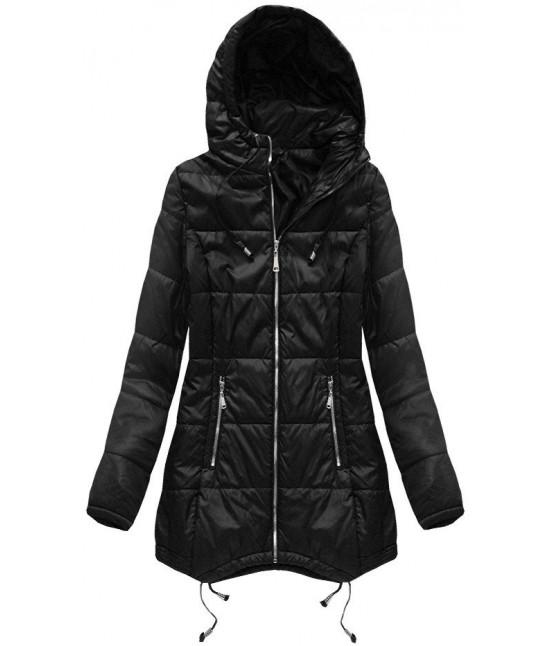 c68299a35d Prešívaná dámska jarná bunda MODA082 čierna - Dámske oblečenie ...