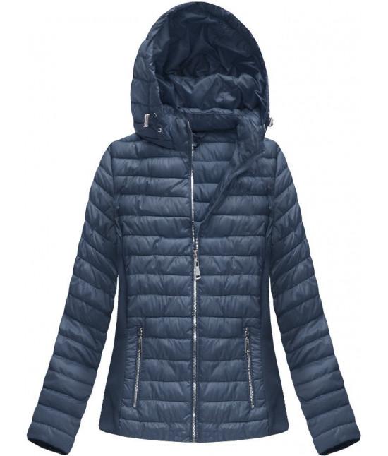 c717fd5cdcc7 Dámska prešívaná jarná bunda MODA080 tmavomodrá - Dámske oblečenie ...