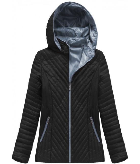 4158bc1d37ad Dámska jarná bunda MODA501 čierna - Dámske oblečenie