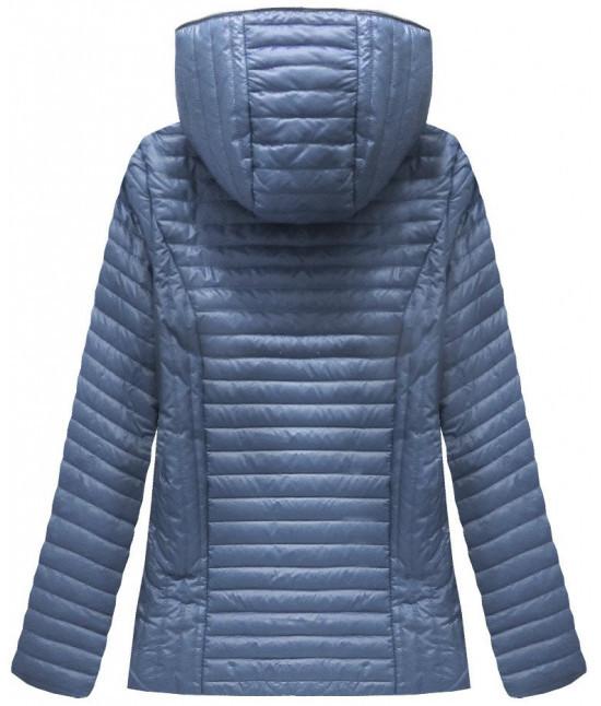 ce68f3f13930 Dámska prešívaná jarná bunda MODA025 modrá - Dámske oblečenie ...