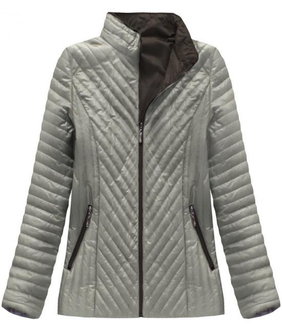 d5c47d4f64ec Dámska prešívaná jarná bunda MODA025 cappuccino - Dámske oblečenie ...
