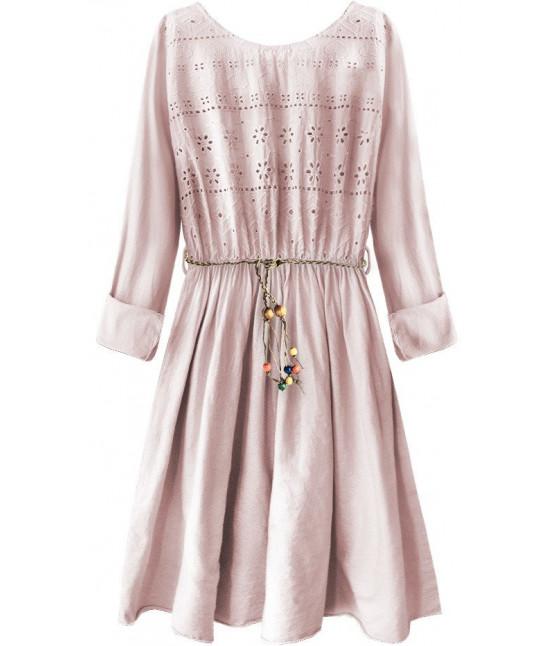 9efc0e822183 Dámske bavlnené šaty MODA212 ružové - Dámske oblečenie