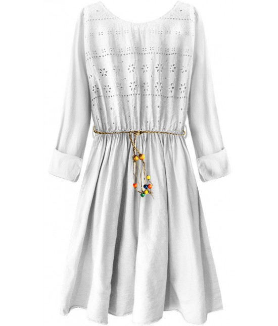 382069020412 Dámske bavlnené šaty MODA212 biele