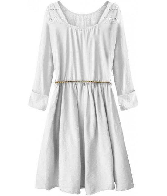 3582cda39d Dámske bavlnené šaty MODA212 biele - Dámske oblečenie