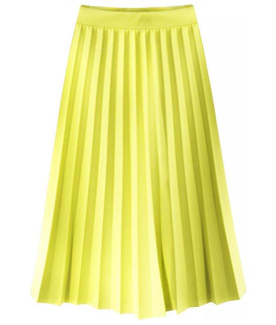 8d6ecd13b121 Dámska plisovaná midi sukňa MODA213 žltá - Dámske oblečenie