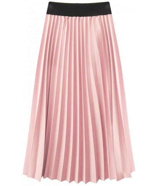 bd3bc774b67d Dámska plisovaná midi sukňa MODA201 púdrová ružová - Dámske ...