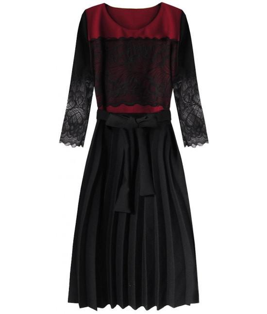 325338c428ee Dámske šaty MODA205 čierno-bordové
