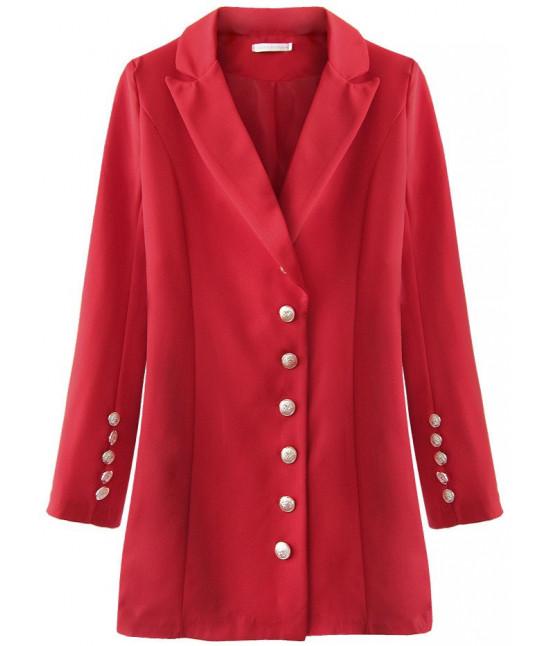 Dámske sako s gombíkmi MODA215 červené