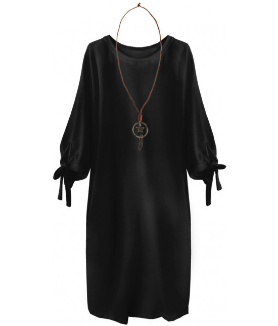 f242a0c969ff Dámske oversize šaty MODA218 čierne - Dámske oblečenie