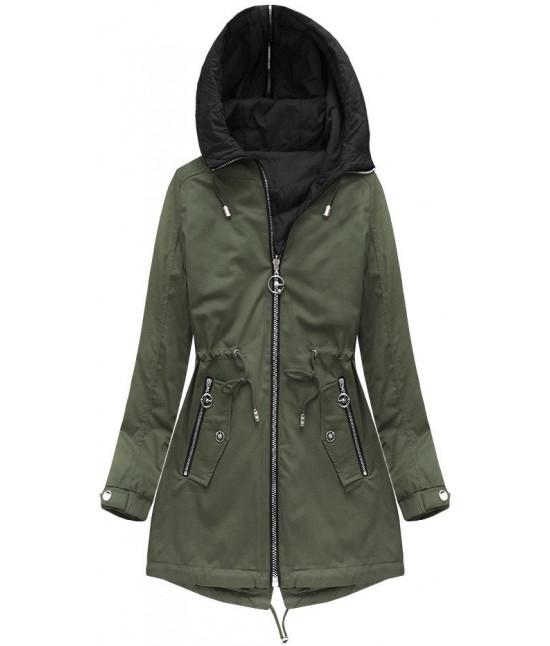 Dámska obojstranná jarná bunda MODA635BIG khaki
