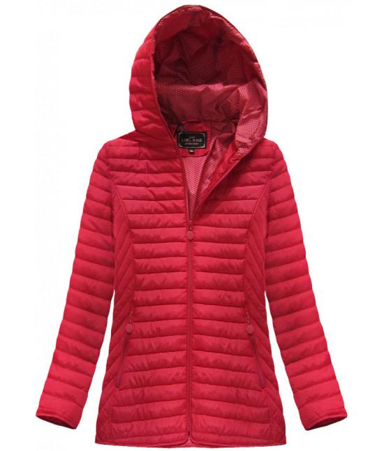 Dámska prechodná jarná bunda MODA040BIG červená