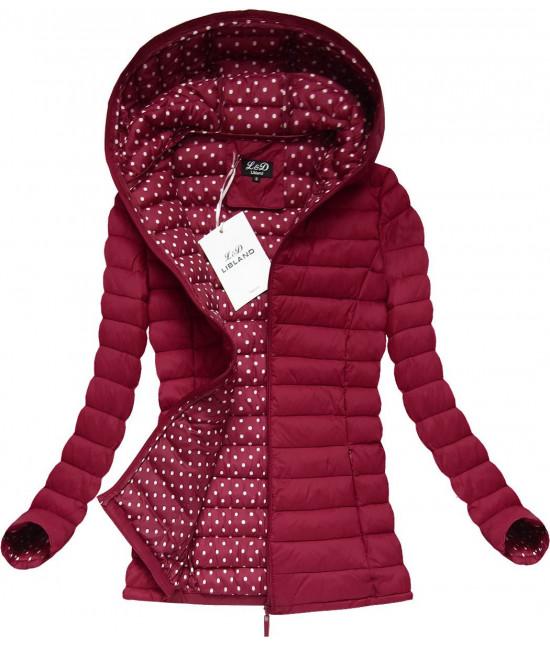 8b9feeba7 Dámska prešívaná jarná bunda červená MODA7115 - Dámske oblečenie ...