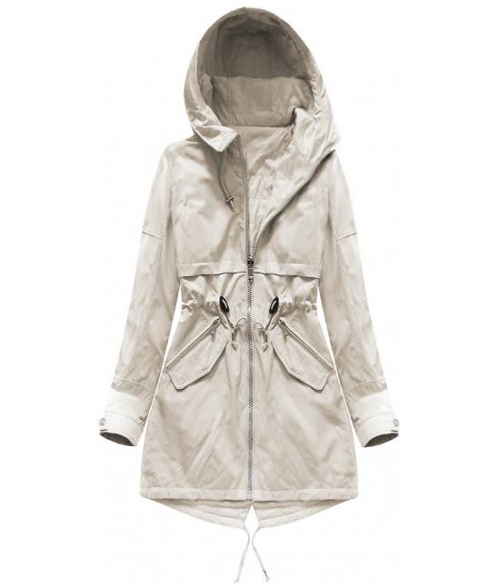 Obojstranná dámska jarná bunda MODA236 béžová