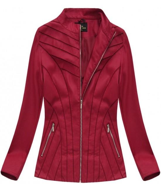 Dámska koženková bunda 5262 červená