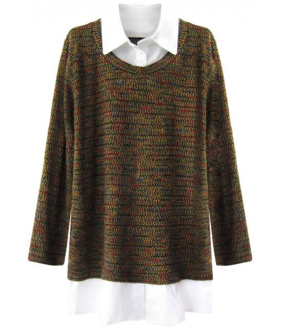 Dámsky sveter MODA235 horčicový