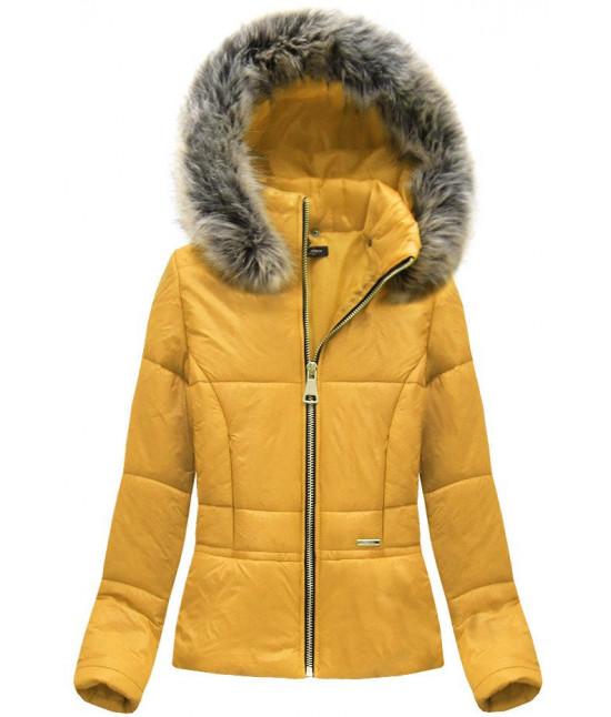 Dámska krátka jarná bunda MODA055 žltá