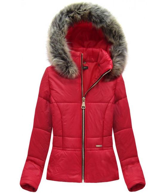 Dámska krátka jarná bunda MODA055 červená