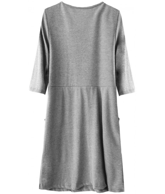 84865ae5b8fc Dámske ležérne šaty MODA220 šedé - Dámske oblečenie